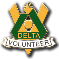 Delta Volunteer Pin