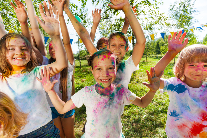 Children having fun at the Family Zone
