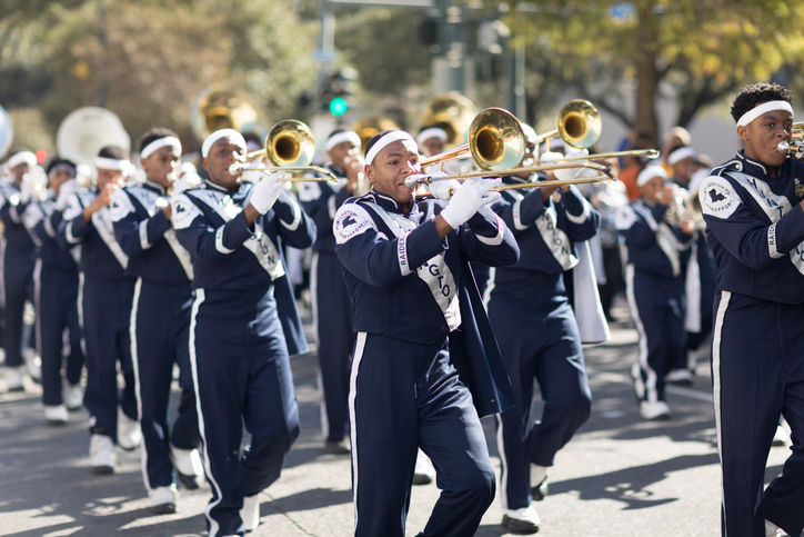 Marching band in a parade