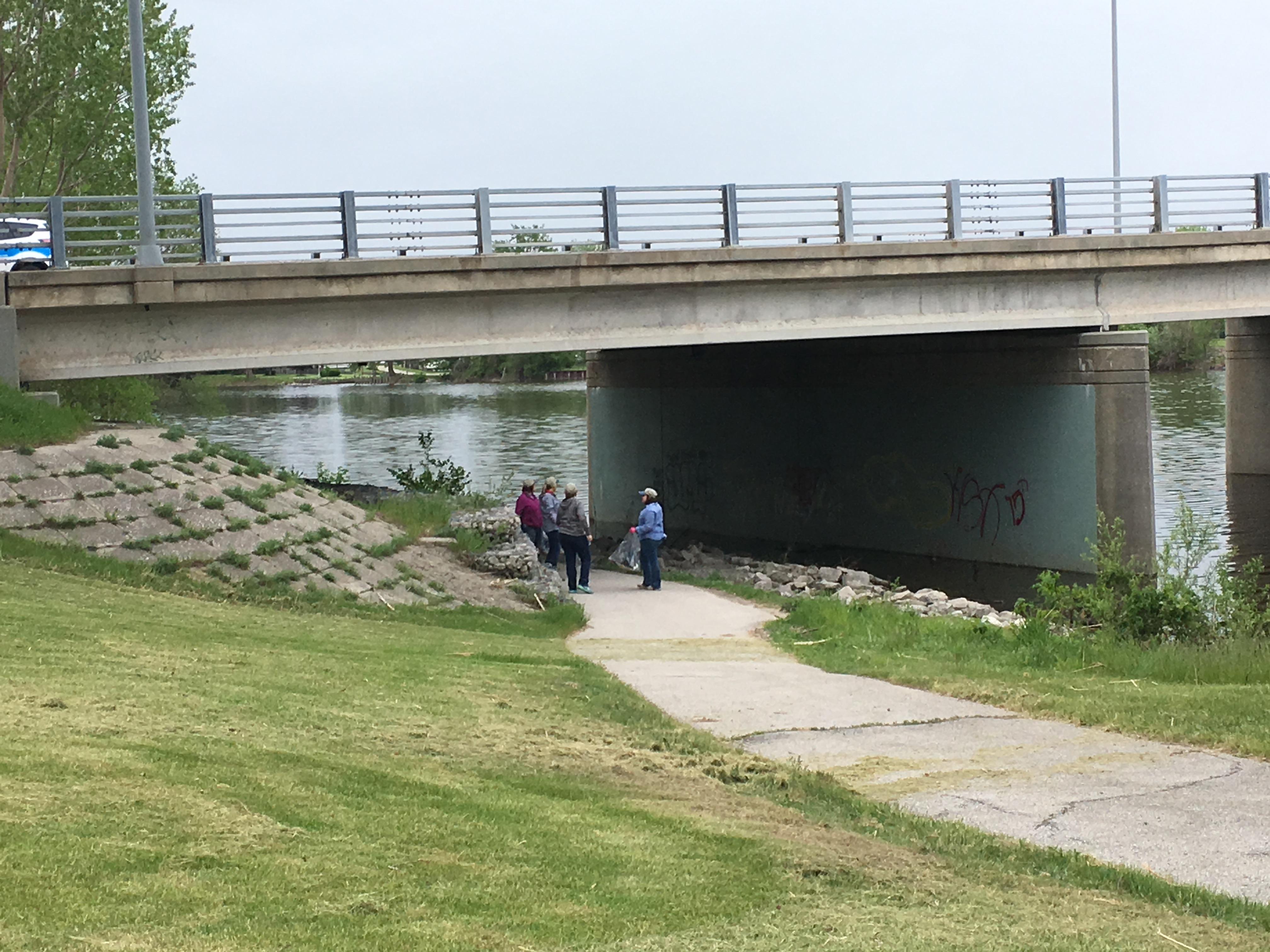 River Clean-Up Volunteers