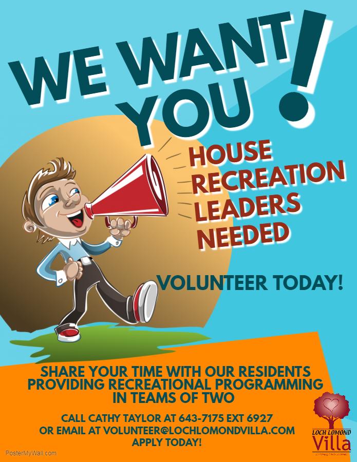 House Recreation Leaders