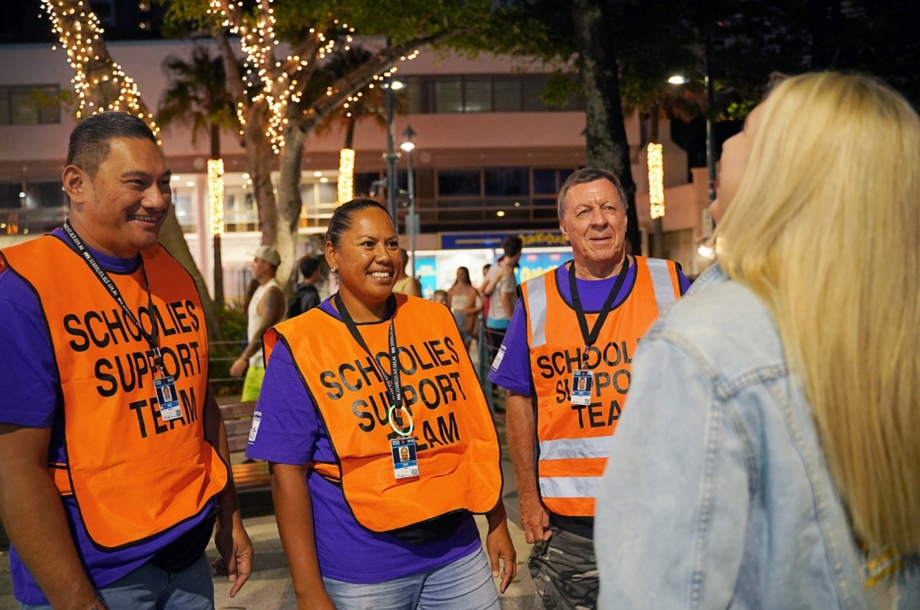 Safer Schoolies volunteers support thousands of young people every year