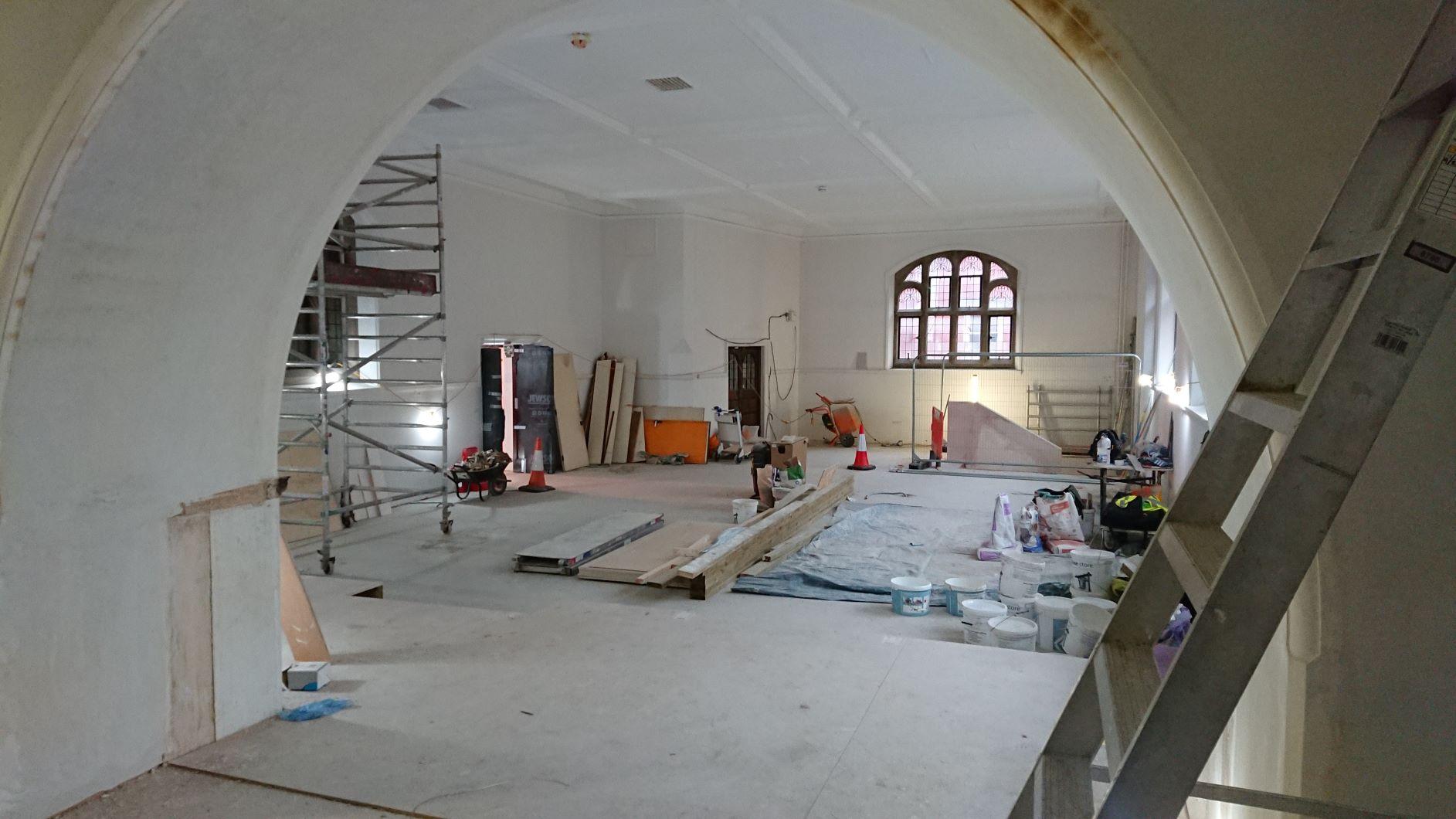 Museum space in progress, February 2021
