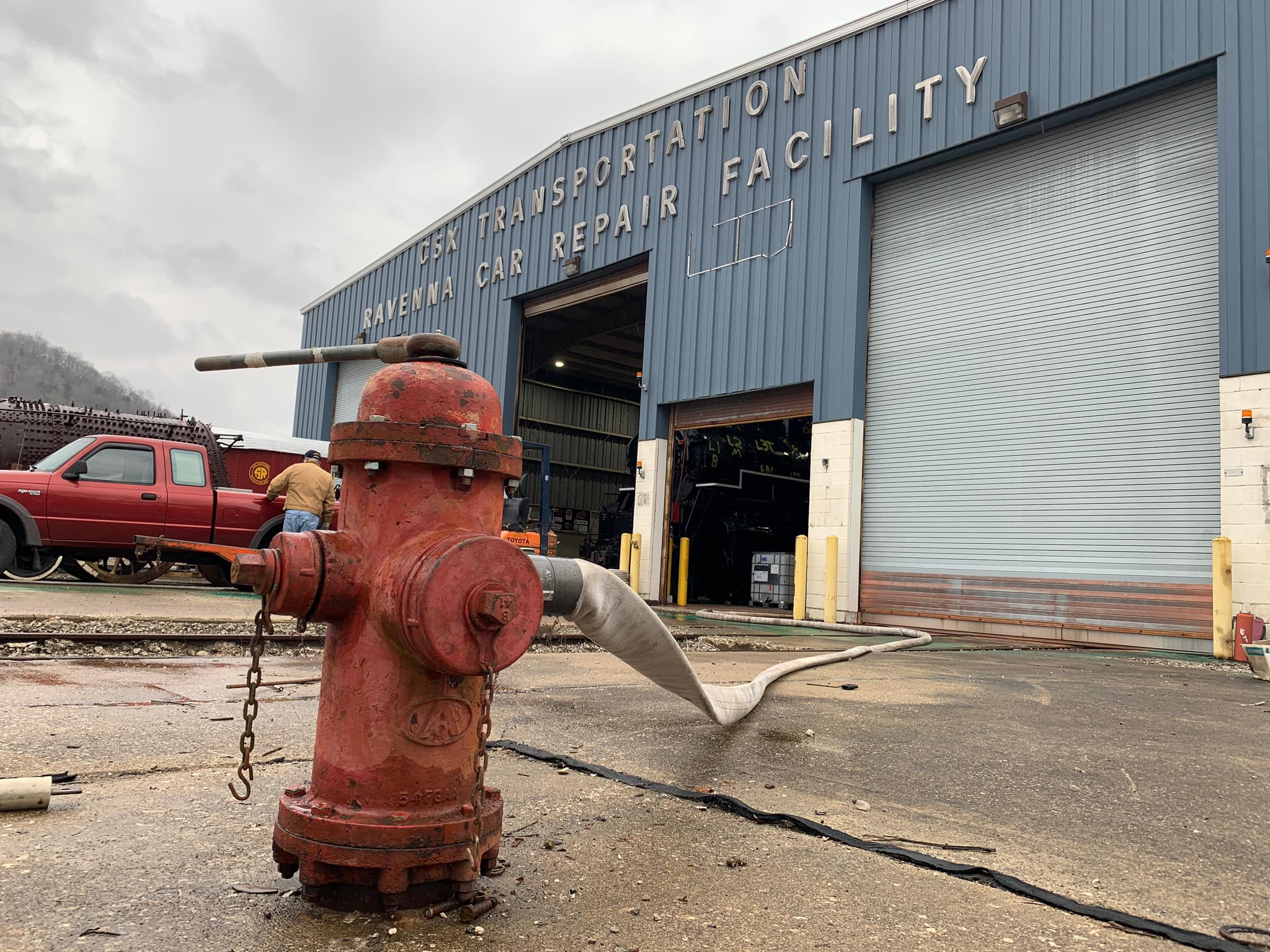 Fire hydrant outside the machine shop