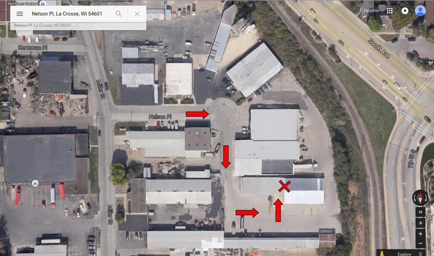 Map to The Salvation Army Warehouse