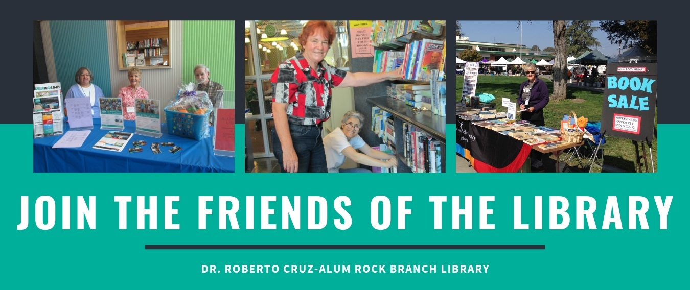 Friends of the Alum Rock Library Banner